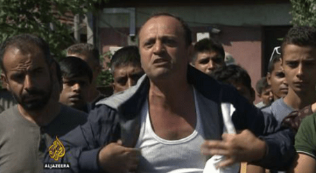 STREAMS OF REFUGEES FLOW INTO MACEDONIA FROM GREECE