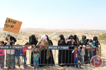 PROTESTERS MARCH AGAINST ISRAELI TAKEOVER OF BEDOUIN VILLAGE