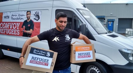 UK BOXING CHAMP LEADS CAMPAIGN TO HELP REFUGEES