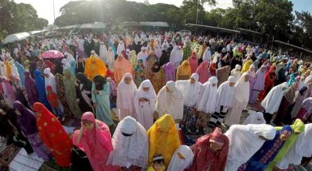 MUSLIMS IN BAGUIO GATHER IN BURNHAM PARK TO CELEBRATE  EID'L ADHA