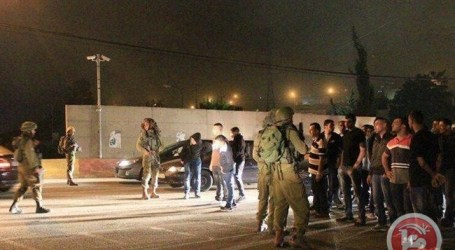 ISRAELI FORCES DETAIN 8 PALESTINIANS IN HEBRON