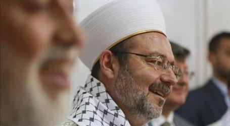 TURKEY'S TOP CLERIC WELCOMES PALESTINIAN FLAG AT UN