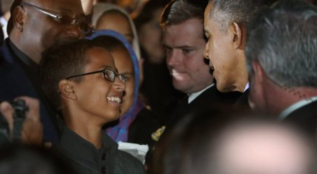 "AHMED ""THE HOMEMADE CLOCK MAKER"" MEETS OBAMA"