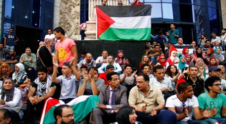 BDS EGYPT HOLDS PROTEST IN SOLIDARITY WITH PALESTINE