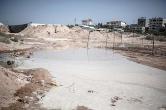 GAZA SUBMERGED BY SEAWATER PUMPED BY EGYPT