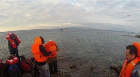 TURKEY RESCUES 57 REFUGEES 'STRANDED ON ISLET'