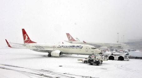 FLIGHTS CANCELLED IN ISTANBUL DUE TO HEAVY SNOW
