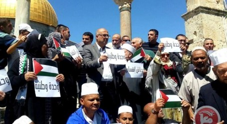 Palestinians Demand National Unity at Aqsa Sit-in