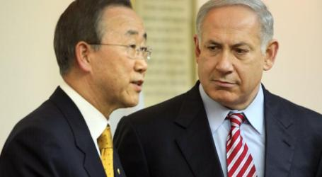 """Ban """"Disturbed"""" by Netanyahu's Outrageous Ethnic Cleansing Remarks, Adding: Settlements Illegal under Int'l Law"""