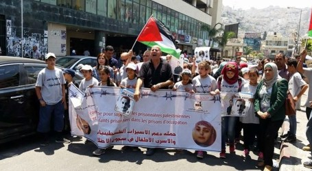 March in Bethlehem to Support Hungger-Strikers in Israeli Jails
