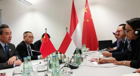 Chinese FM Wang Yi Meets with Indonesian FM Retno Marsudi in Germany