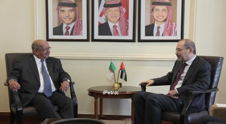 Jordan, Algeria FMs Say Palestine State is Key to Regional Security
