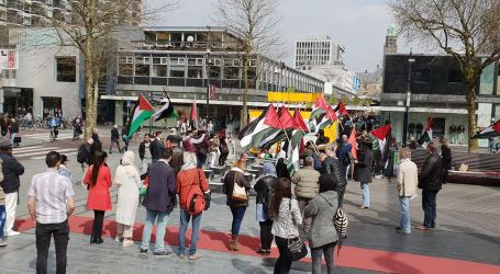 Protest in Rotterdam in Support of Great March of Return