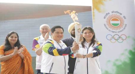 18th Asian Games Flame Ignited in OCA's 'Olympia'