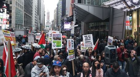 Dozens of US Citizens in New York Show Solidarity Toward Palestine