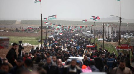 "Great March of Return's Committee Build A ""Return"" Park  in Gaza"