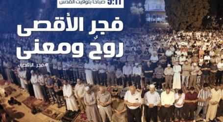 Thousands of Palestinians Perform Dawn Prayer Congregation in Al-Aqsa