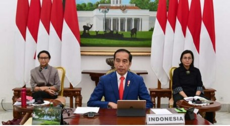 President Jokowi Joins G20 Virtual Summit