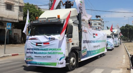 Indonesia Distribute 50 Tons Food Packages for Gazans