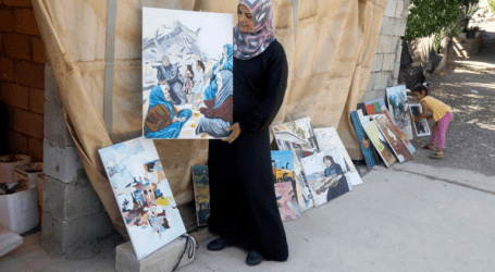 A Palestinian Artist Describe Israel's Annexation on Painting