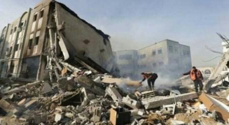 Israeli Missiles Destroy Farmlands and Bulidings in Gaza Strip