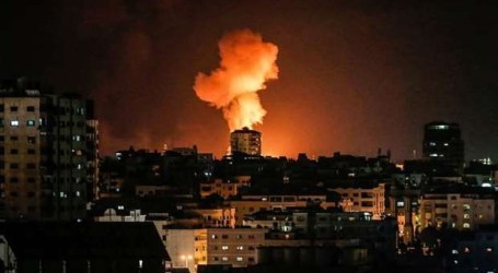 Israeli Warplanes Bomb Resistance Site in Northern Gaza Strip