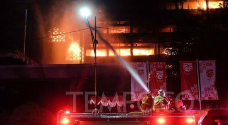 The Fire at Indonesian AGO Building Finally Went Out after 11 Hours