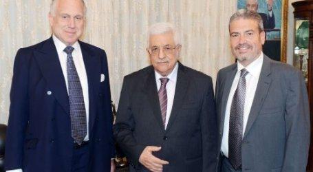 Abbas Meets World Jewish Congress Chairman Discuss Peace