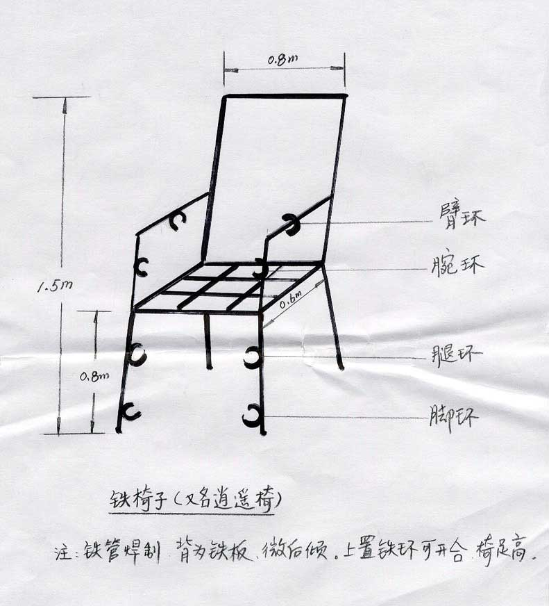 Iron Chair Device Used by Jiang Zemin's Regime to Torture