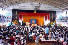 李洪志师父于一九九七年十一月在台北三兴国小讲法