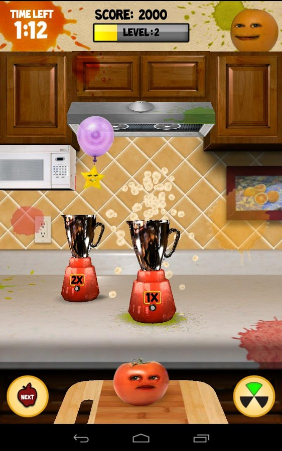 Download a game Annoying Orange Kitchen Carnage android