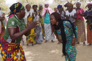 SFC women dance and sing