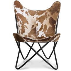Cow Print Chairs Big Joe Chair Leather Butterfly