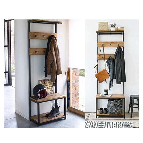 buy kansas industrial coat rack wood