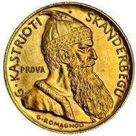 20 Franga Ari (Skanderbeg; Prova) - Albania – Numista