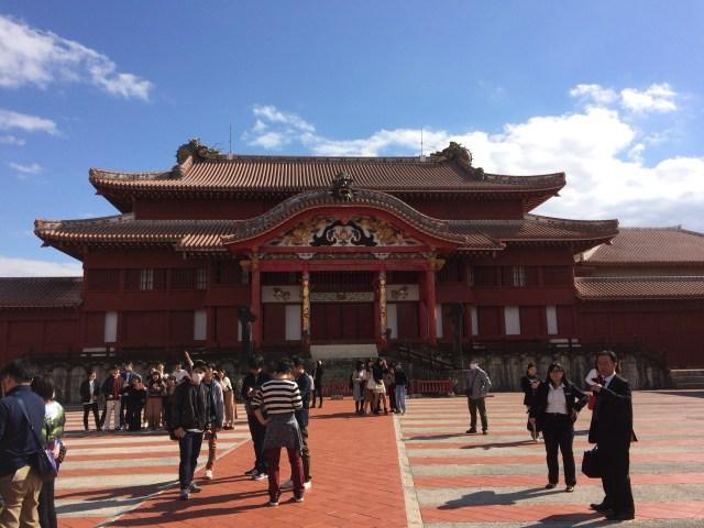 Una in Front of Shurijo Castle Seiden