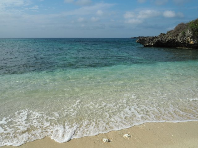 Clear water of Manatsu Beach