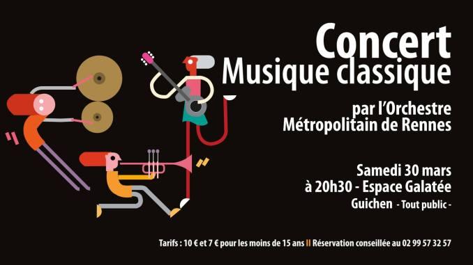 poster concert Guichen 30 march 2019