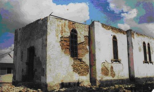 The Dormition Church, half-demolished, 2003