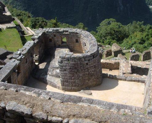 The sun temple in Machu Picchu