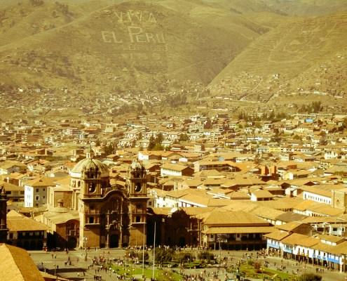 Ciudad Cuzco vista desde arriba