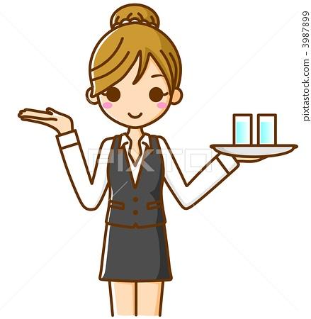 女服務員信息-插圖素材 [3987899] - PIXTA圖庫
