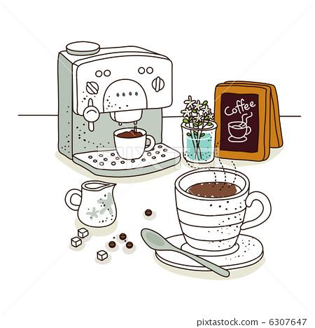 線圖標1 - 咖啡-插圖素材 [6307647] - PIXTA圖庫