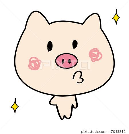 小豬-圖庫插圖 [7058211] - PIXTA