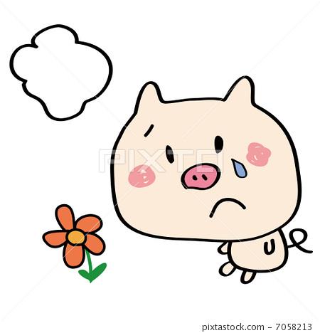 豬3-插圖素材 [7058213] - PIXTA圖庫