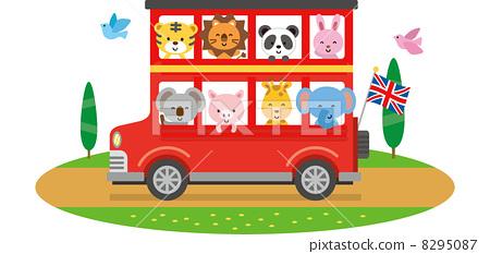旅遊巴士-插圖素材 [8295087] - PIXTA圖庫