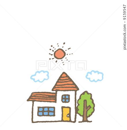 一幢房子-插圖素材 [9159547] - PIXTA圖庫