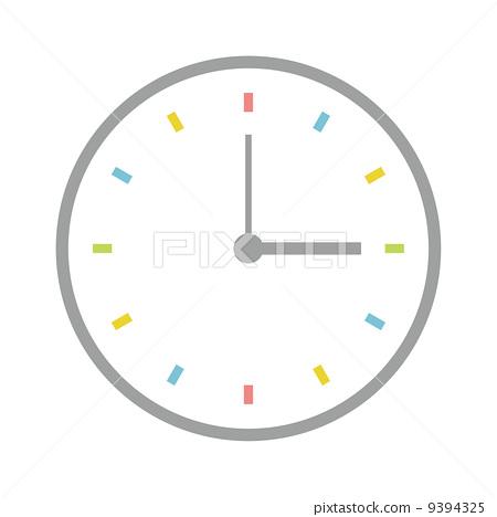 時鐘圖標-插圖素材 [9394325] - PIXTA圖庫