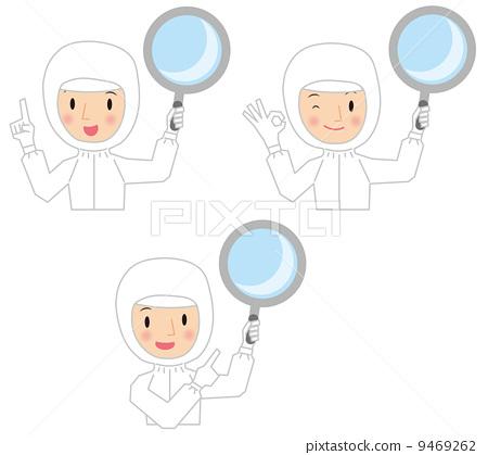 潔淨室操作員放大鏡-插圖素材 [9469262] - PIXTA圖庫