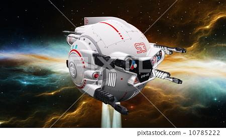 太空飛船-插圖素材 [10785222] - PIXTA圖庫